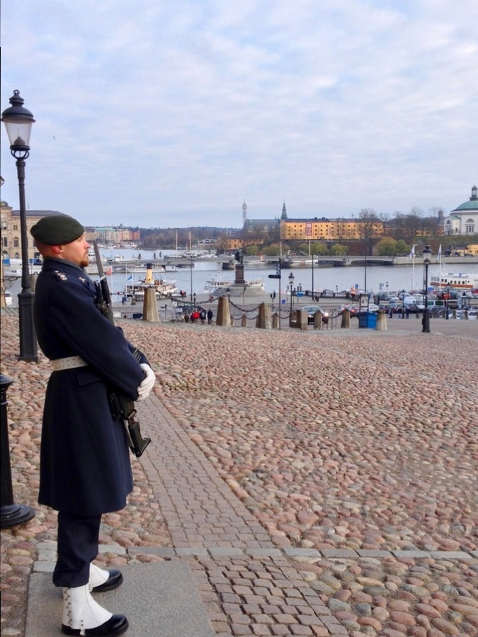 A guard at the Royal Palace - Stockholm, Sweden