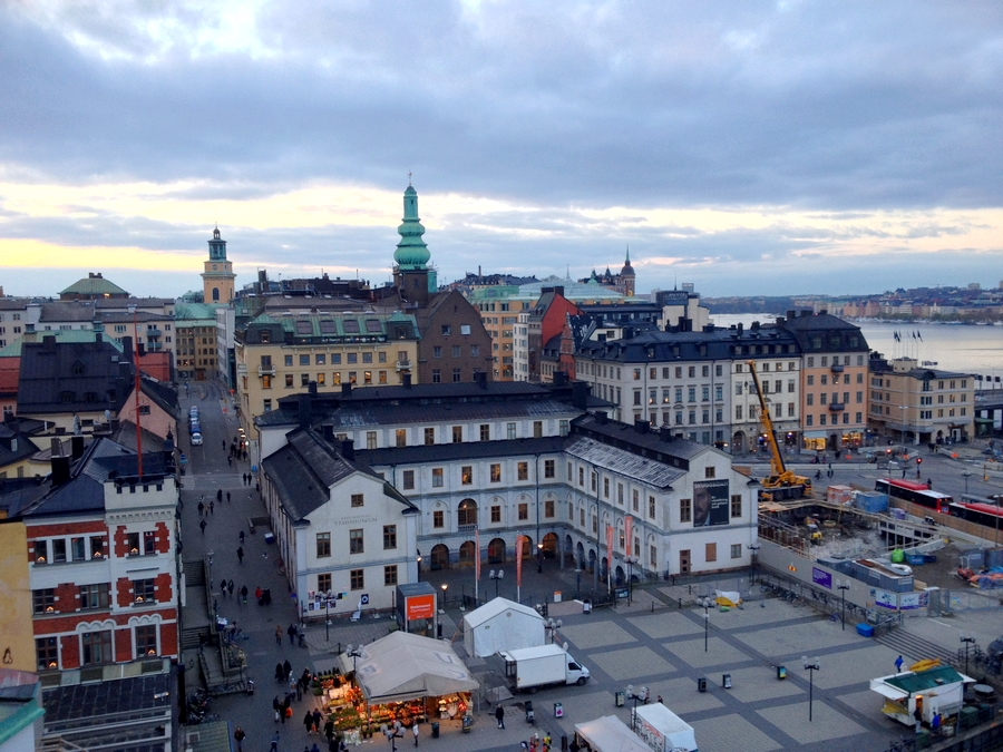 View on the city center from Katarinahissen - Stockholm, Sweden