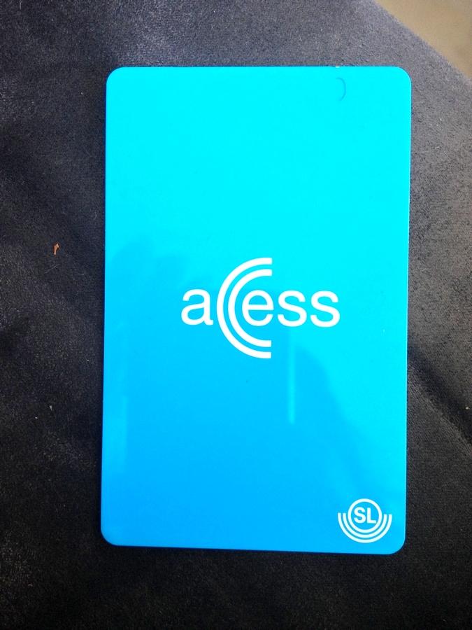 Access transport card - Stockholm, Sweden