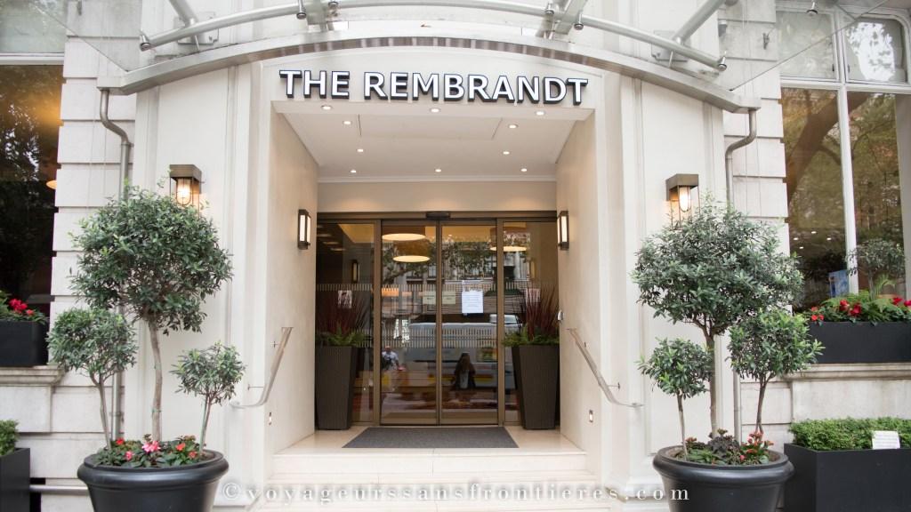 Hôtel le Rembrandt - Londres, Angleterre