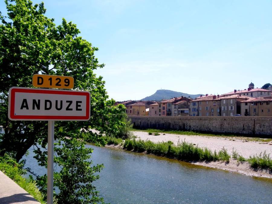 Entering Anduze - France