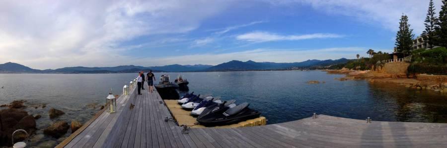 Panorama depuis le ponton du Sofitel - Ajaccio, Corse