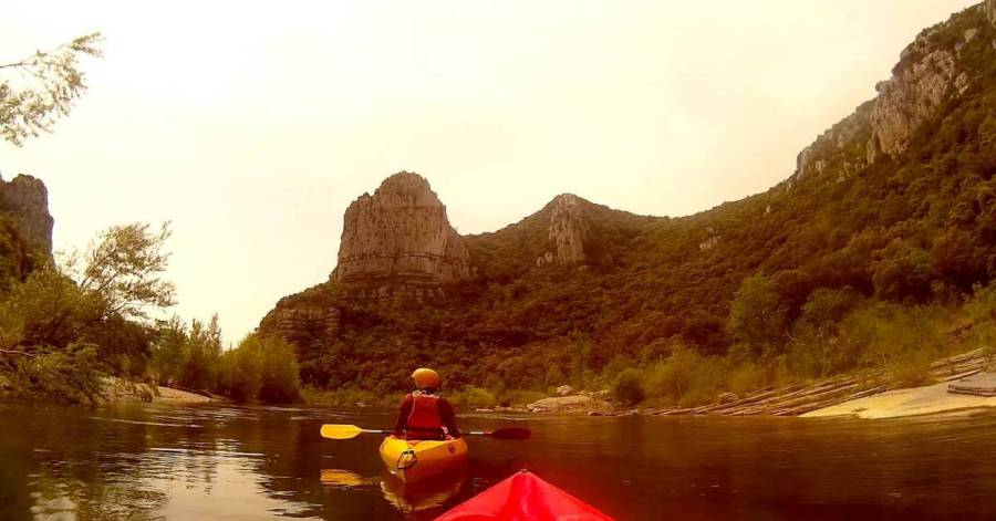 Kayaking on the Hérault river - Saint-Bauzille-de-Putois, France