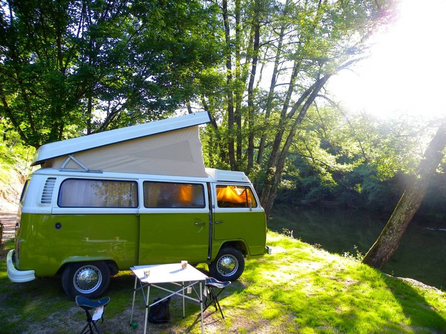 Scooby, the CevVan van - Salendrinque camping site, France
