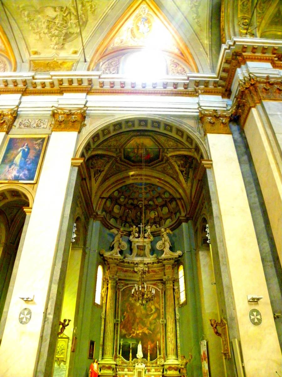 Holy light in Saint Jean Baptiste church - Bastia, Corsica