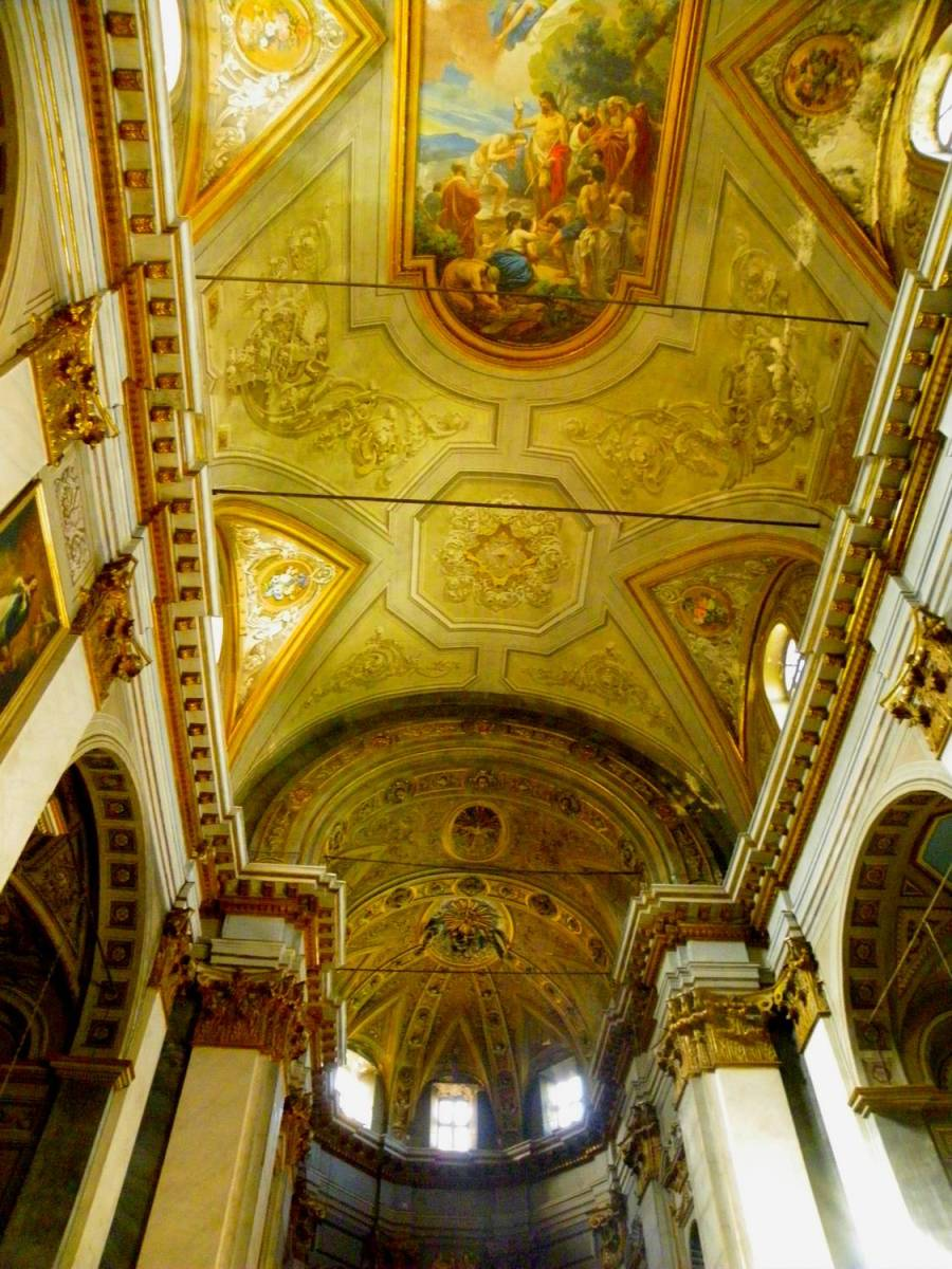 Plafond de l'église St Jean Baptiste - Bastia, Corse