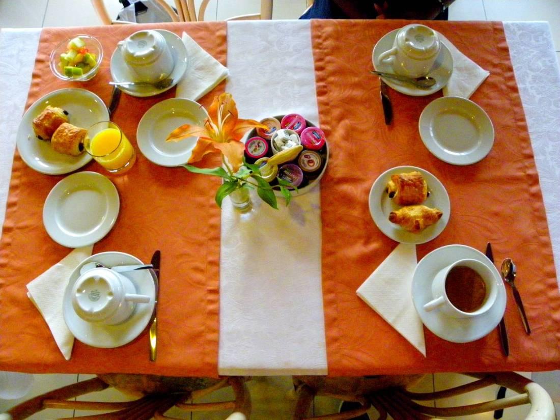 Breakfast at the la Pinède Hotel - Ajaccio, Corsica
