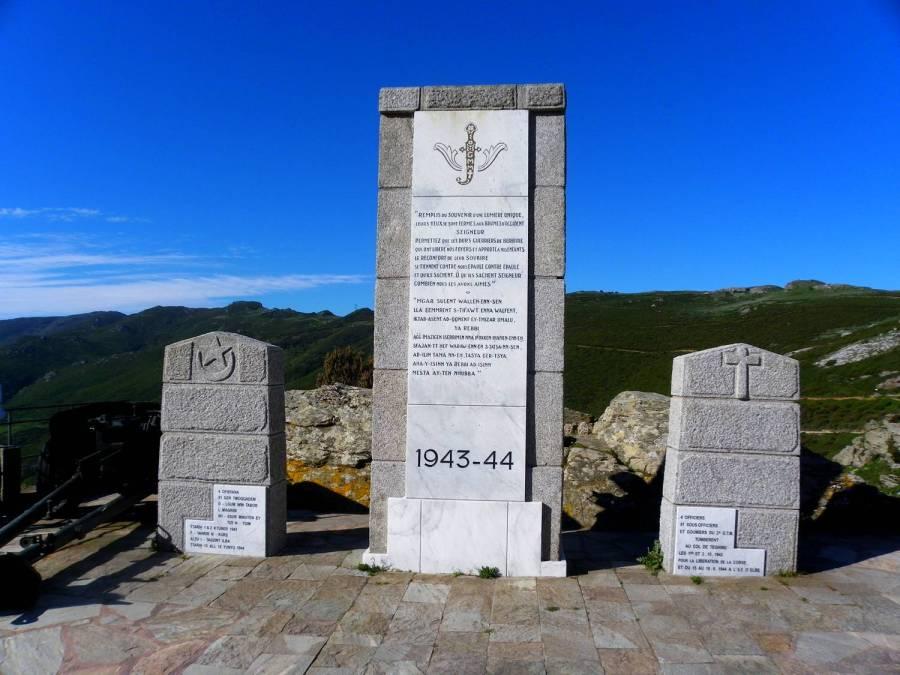 Teghime battle memorial - Col de Teghime, Corsica