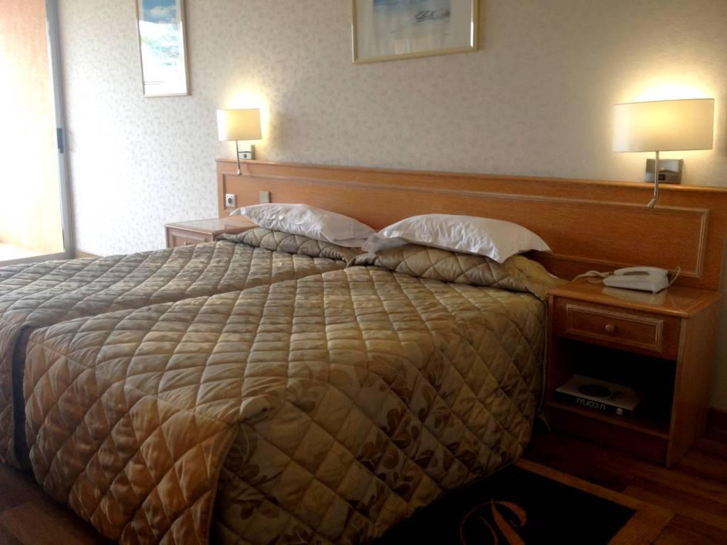 Notre chambre à l'hôtel la Pinède - Ajaccio, Corse