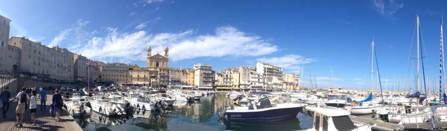 Vue panoramique du port - Bastia, Corse