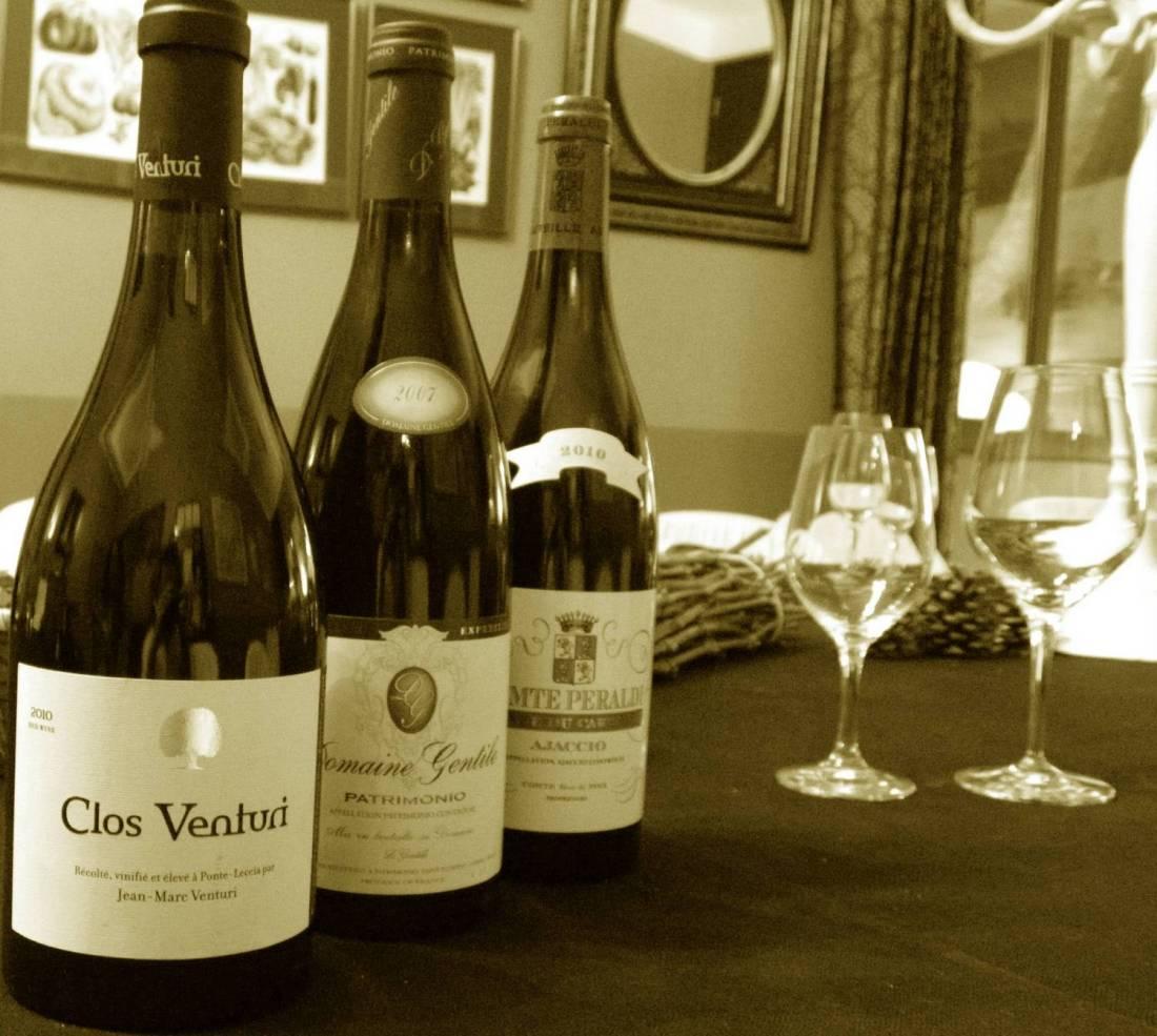 Wine bottles at the Chemin des Vignobles - Ajaccio, Corsica