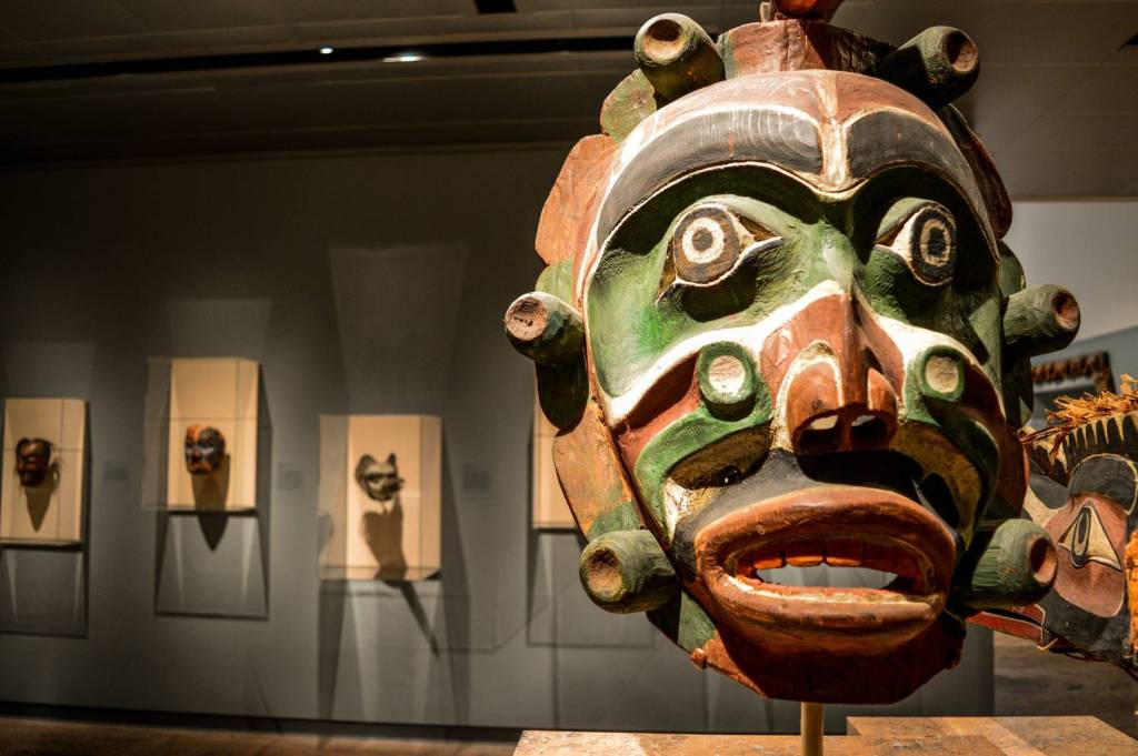 Un masque africain au Metropolitan Museum of Art - New York, Etats-Unis