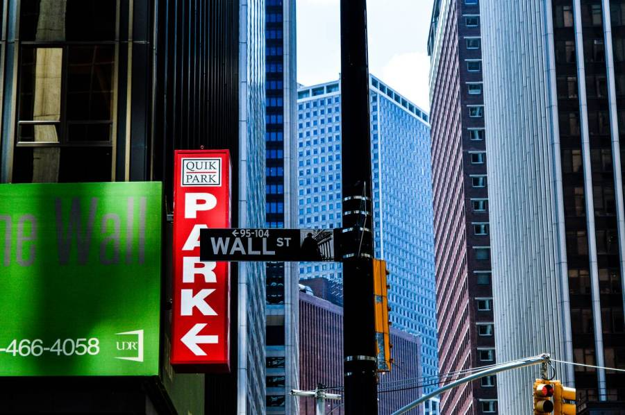 Un panneau de Wall Street - New York, Etats-Unis