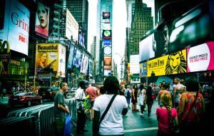 Nath à Times Square - New York, Etats-Unis
