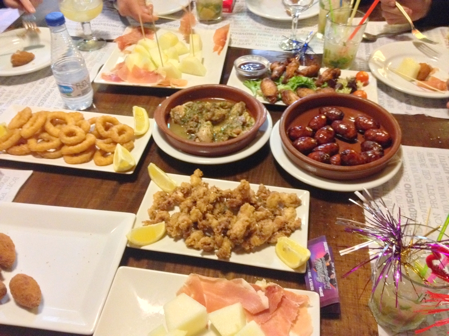 Spanish tapas - Salou, Spain