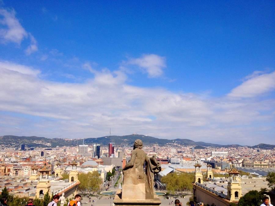 Vue sur Barcelone depuis Montjuïc - Barcelone, Espagne