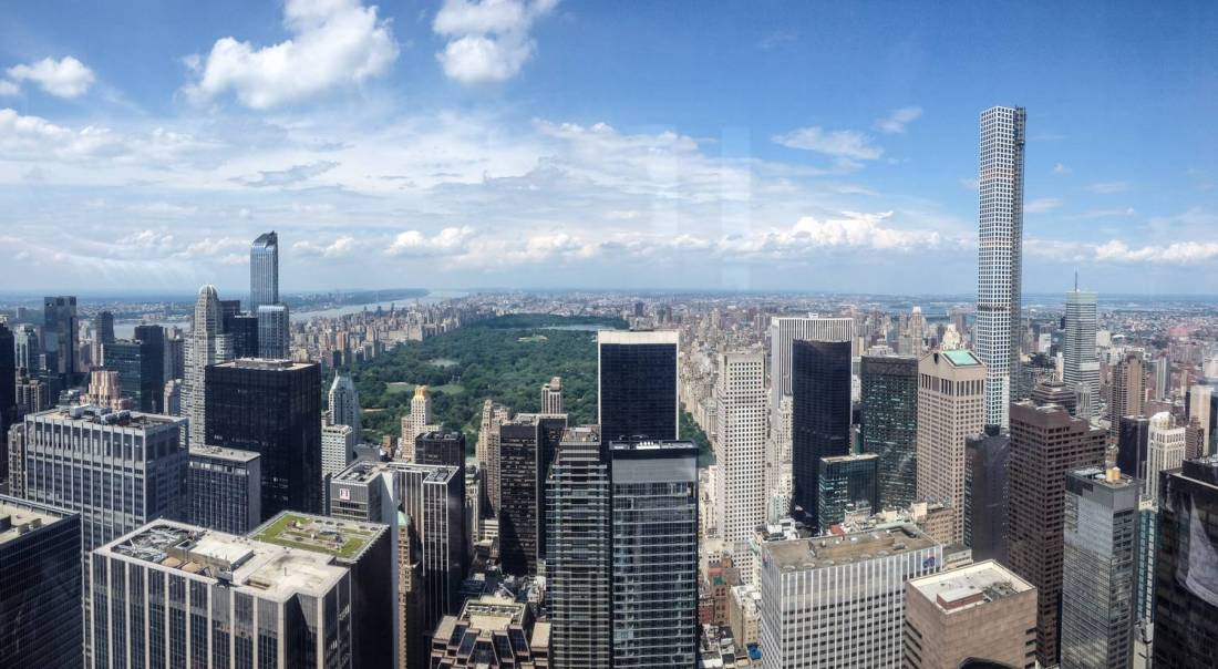 View over Central Park from the Top of the Rock - New York, United States