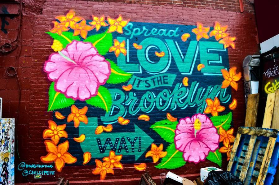 Street art à Greenpoint dans Brooklyn - New York, Etats-Unis