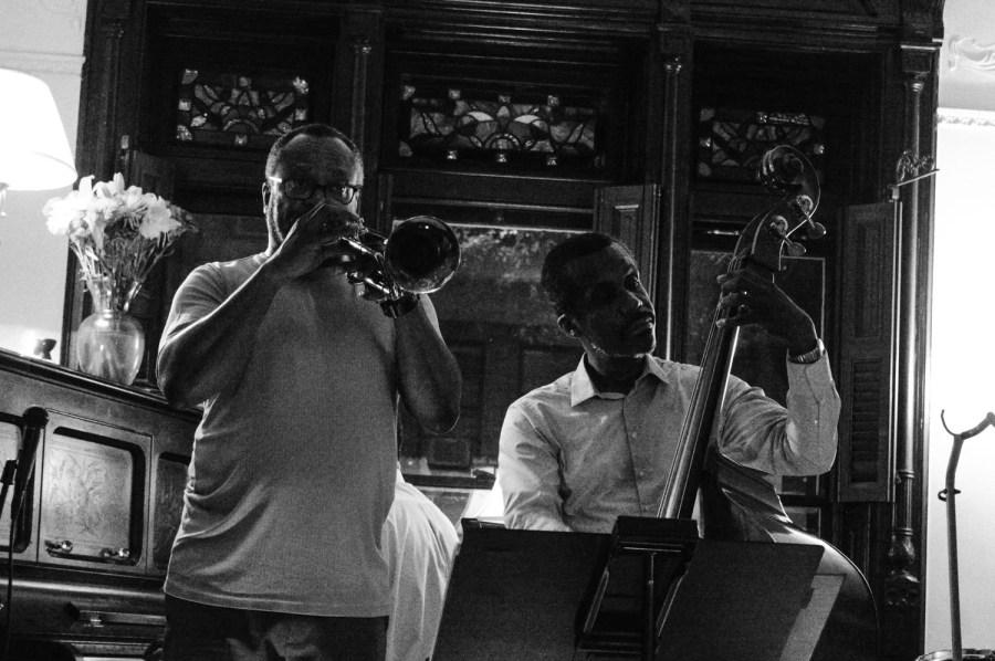 Eddie à la trompette et Eric à la contrebasse - New York, Etats Unis