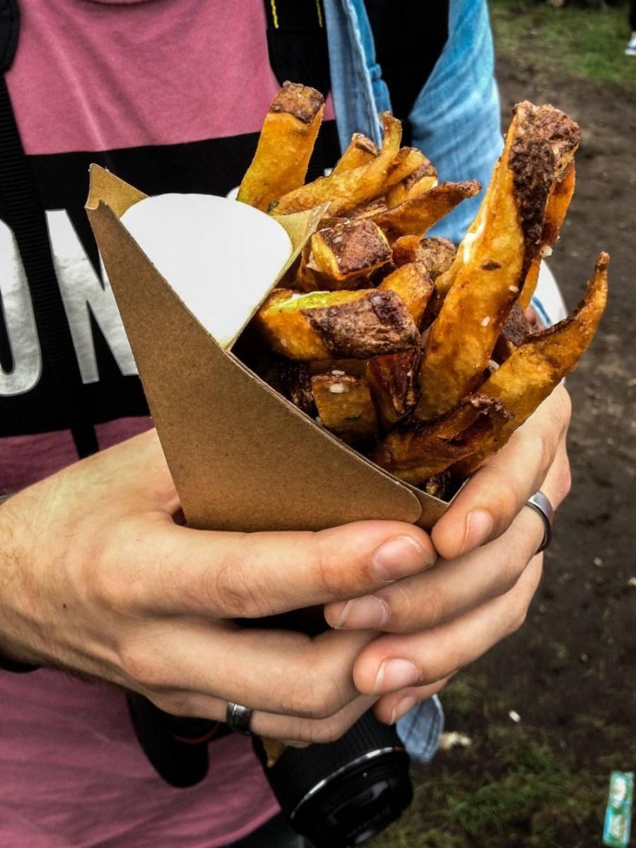 Délicieuses frites de chez Home Frite à Smorgasburg - New York, Etats-Unis