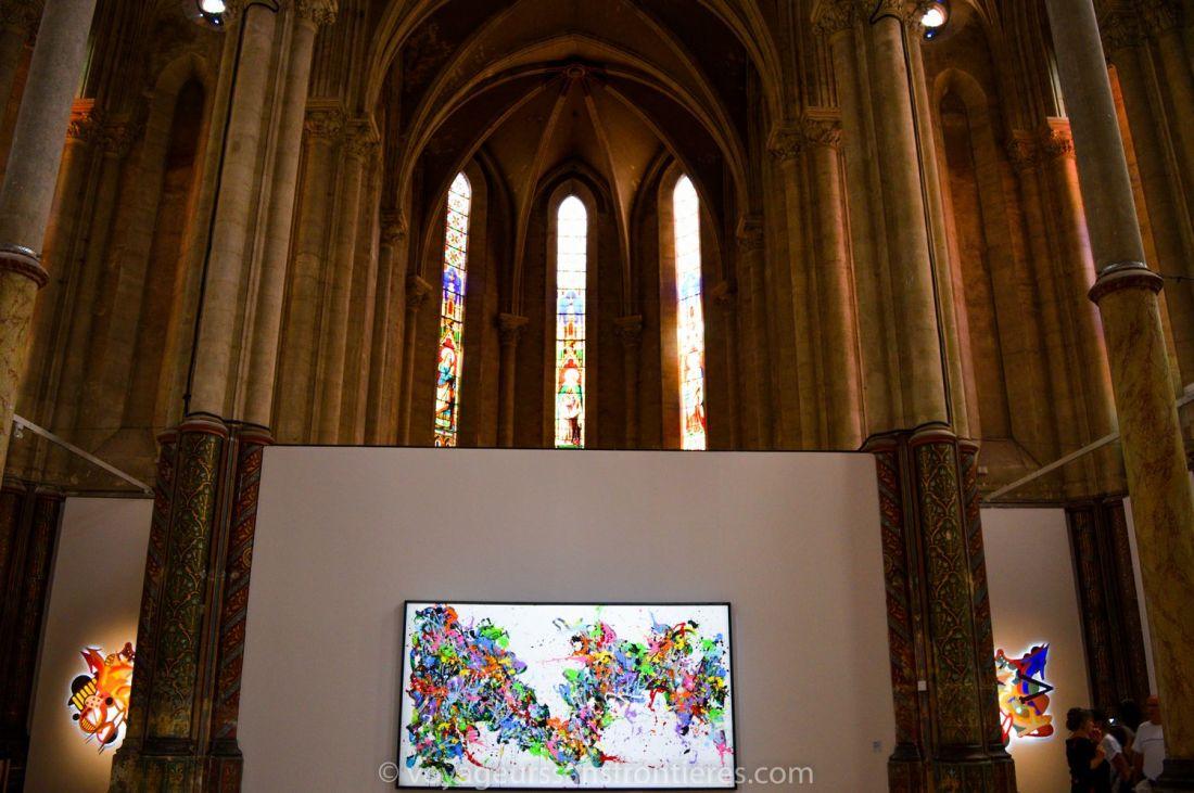 JonOne's art pieces in the Carré Sainte Anne - Montpellier, France