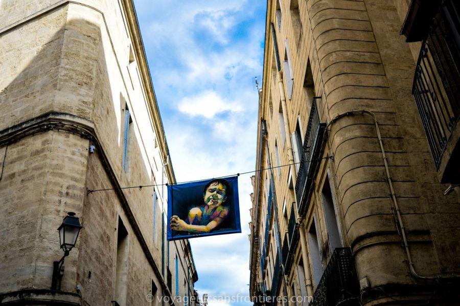 Oeuvre d'art dans les rues de l'Ecusson - Montpellier, France