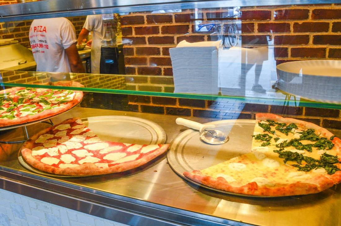 Beautiful pizzas at Joe's Pizza - New York City, USA