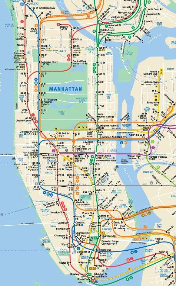 Carte du métro de New York - Voyageurs Sans Frontières