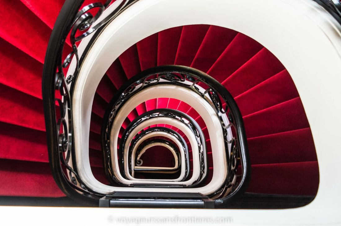 Spiral stairs at the Mercure hotel - Lille, France