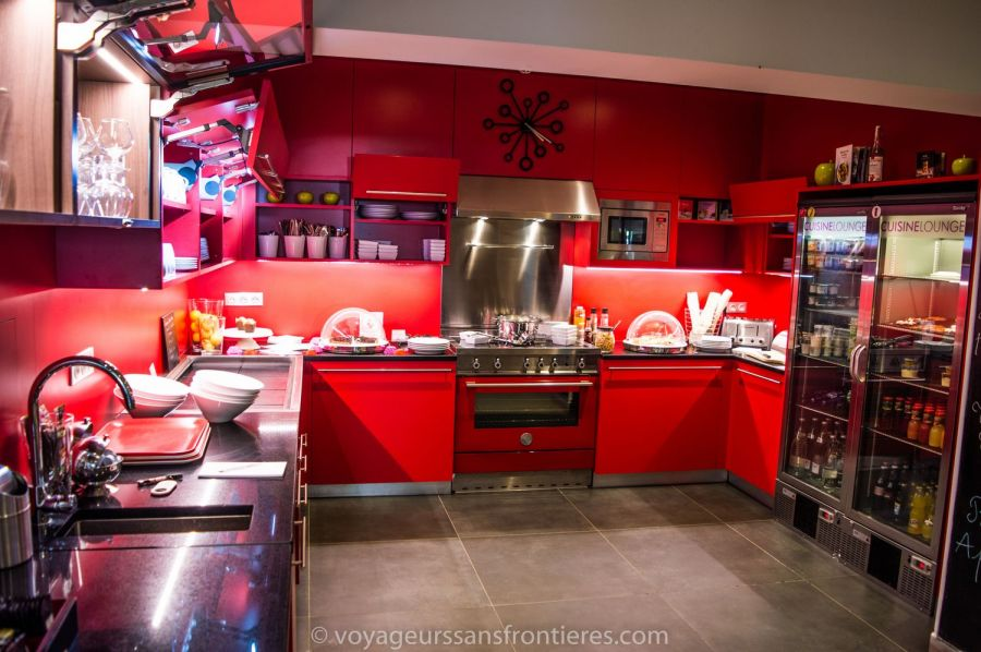 Very nice lounge kitchen at the Mercure hotel - Lille, France