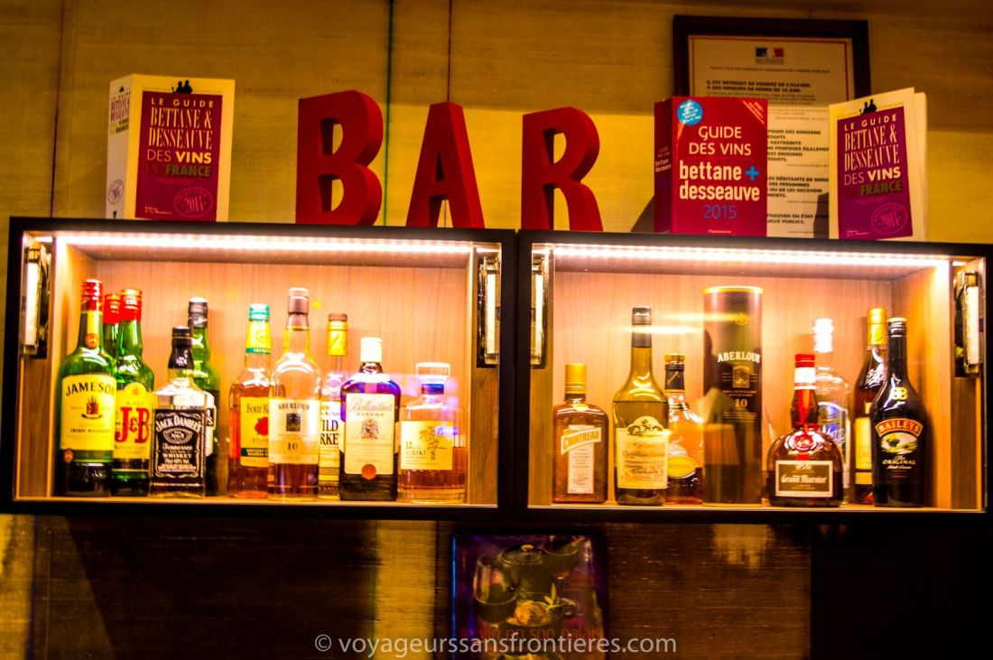 The bar area at the Mercure hotel - Lille, France