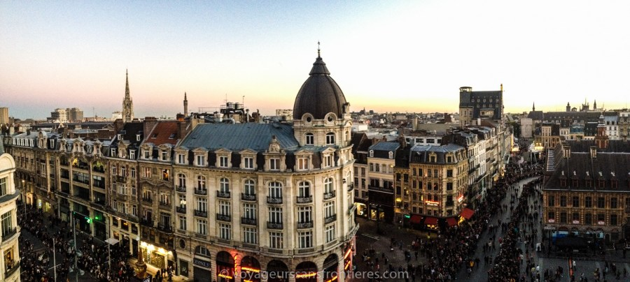 Panorama over Lille from the Opera's rooftop - Lille, France