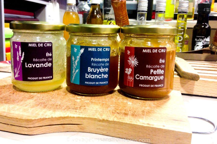 Miels de lavande, bruyère blanche et Petite Camargue au Panier d'Aimé - Montpellier, France