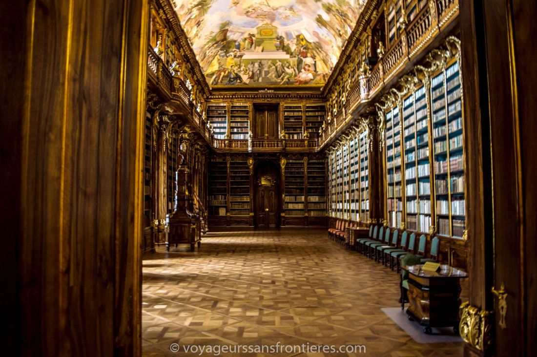 The Philosophy library from the Strahov Monastery - Prague, Czech Republic
