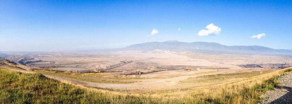 Panorama sur la mine de charbon de Most - Bohème du Nord, République Tchèque