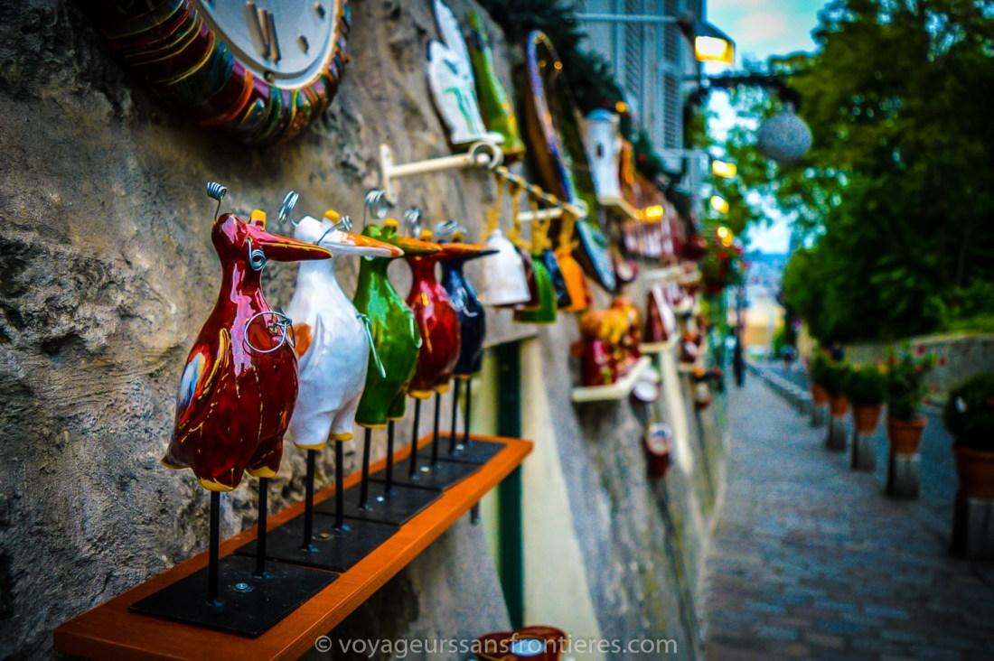 Pieces of art in Montmartre - Paris, France