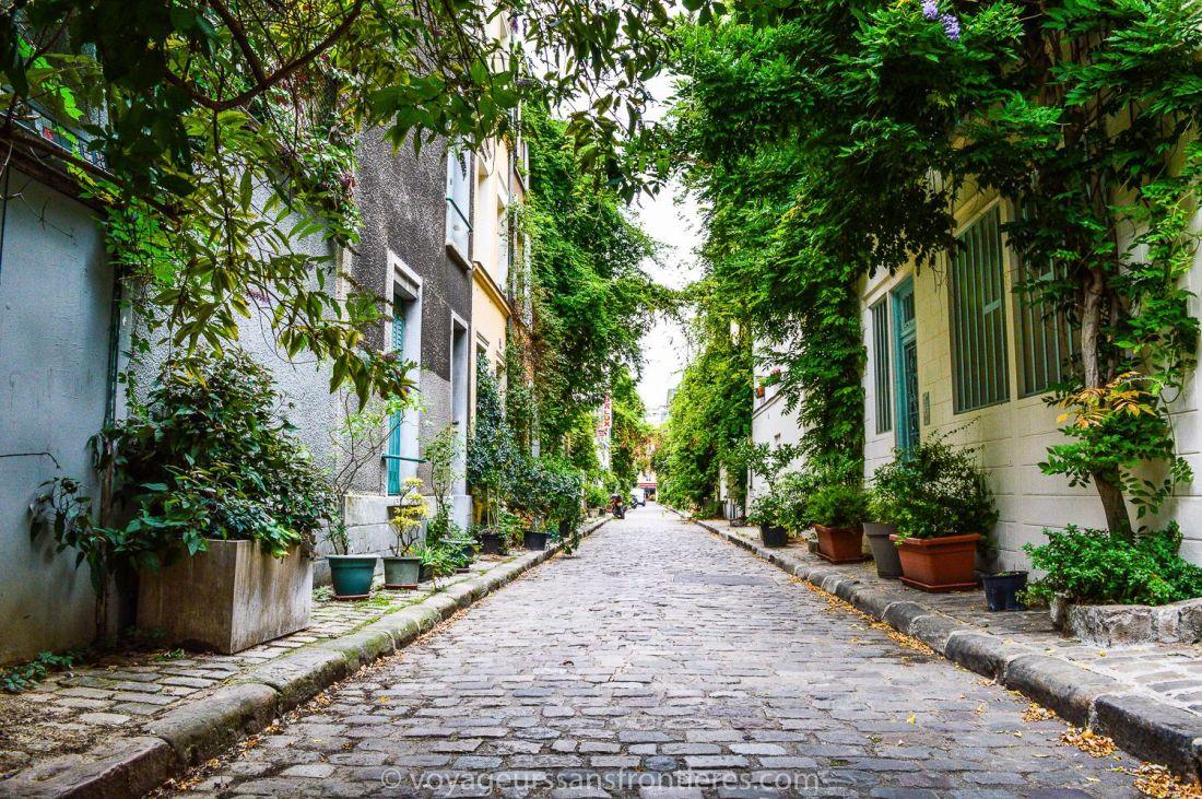 The rue des Thermopyles - Paris, France