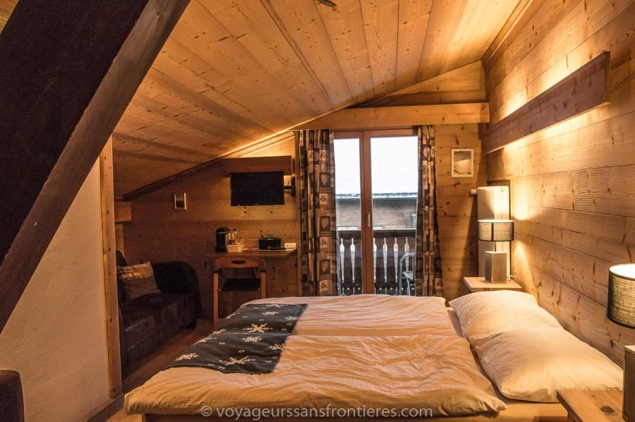 Notre chambre à l'hôtel Les Lilas - Les Diablerets, Suisse
