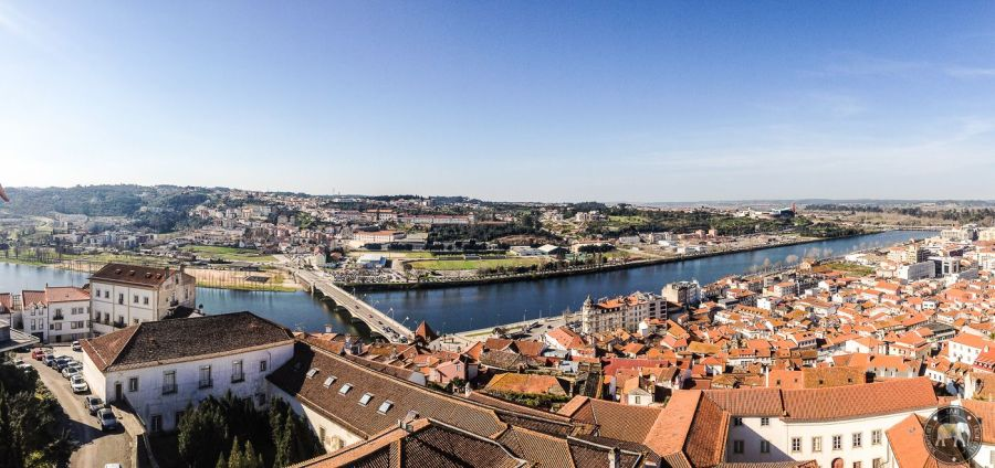View on the Rio Mondego from the University of Coimbra - Portugal
