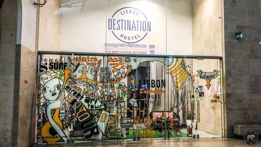 Entrance of the Lisbon Destination Hostel - Lisbon, Portugal