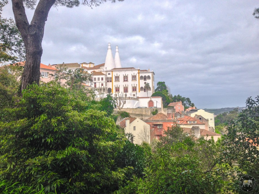 National Royal Palace from the Parque da Liberdade - Sintra, Portugal