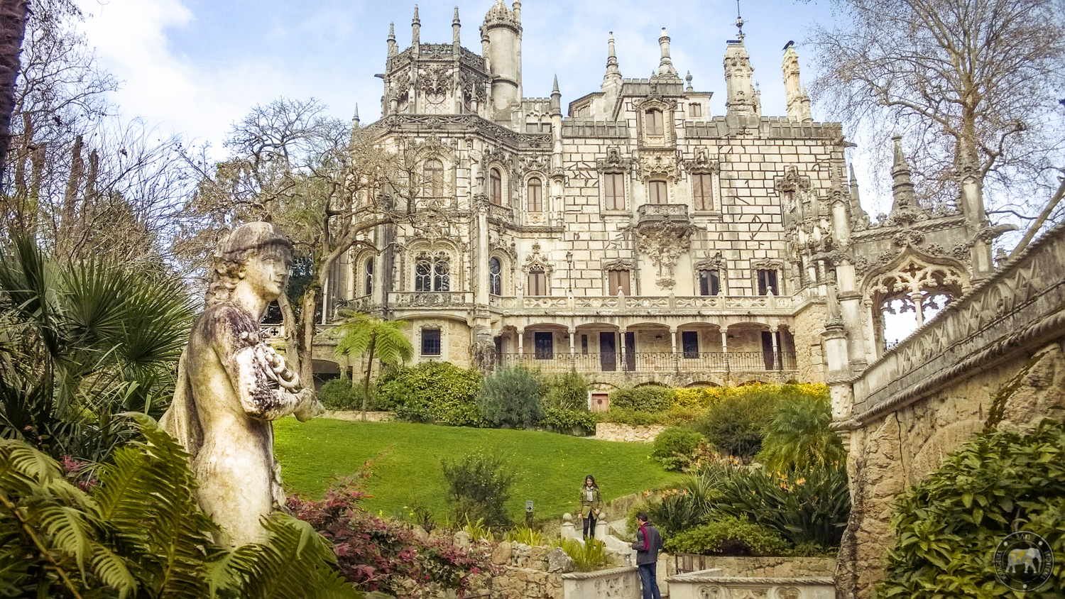 Regaleira palace at the Quinta da Regaleira - Sintra, Portugal