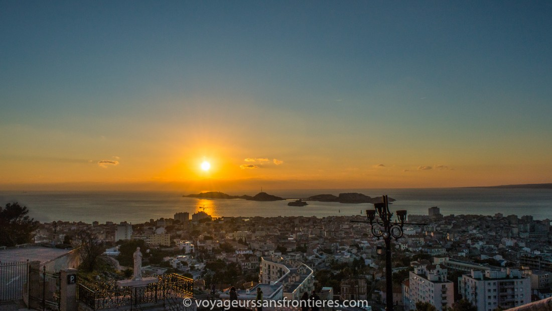 Sunset from Notre- Dame de la Garde - Marseille, France