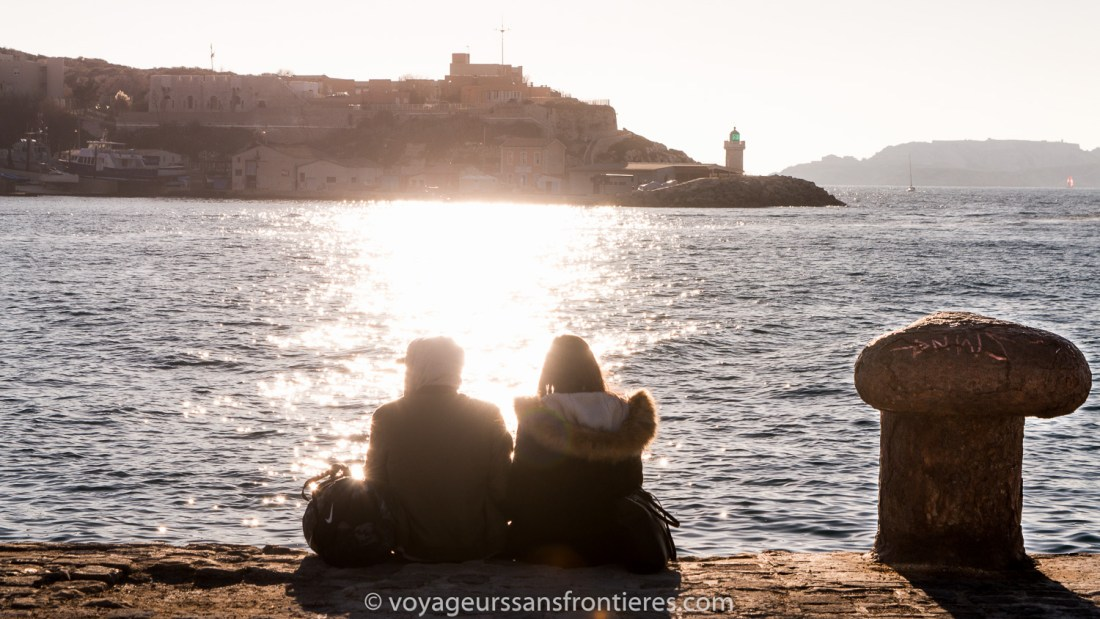 End of the afternoon at the Fort Saint Jean - Marseille, France