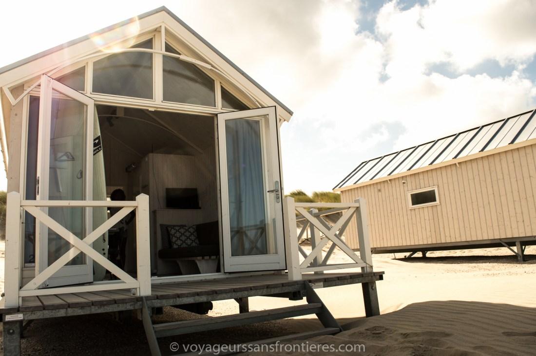 Haagse Strandhuisjes beach house on the Kijkduin beach - The Hague, Netherlands