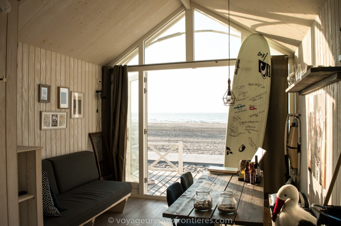 Inside our Haagse Strandhuisjes beach house on the Kijkduin beach - The Hague, Netherlands