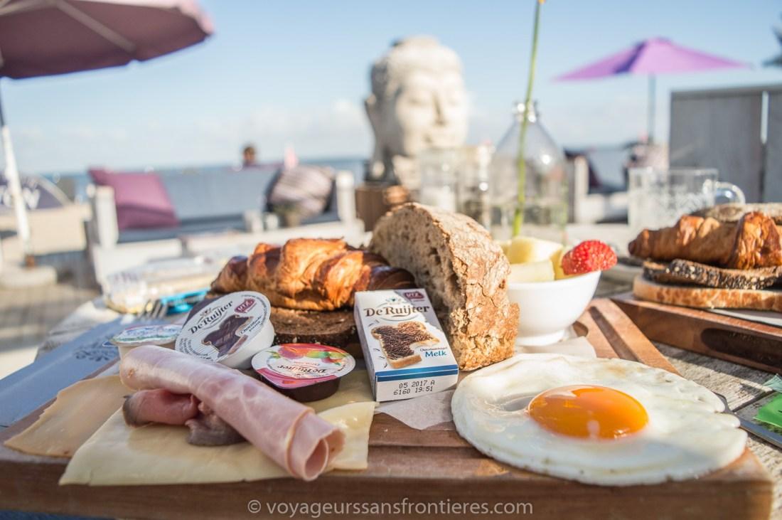 Delicious breakfast at the Habana Beach on the Kikjduin beach - The Hague, Netherlands