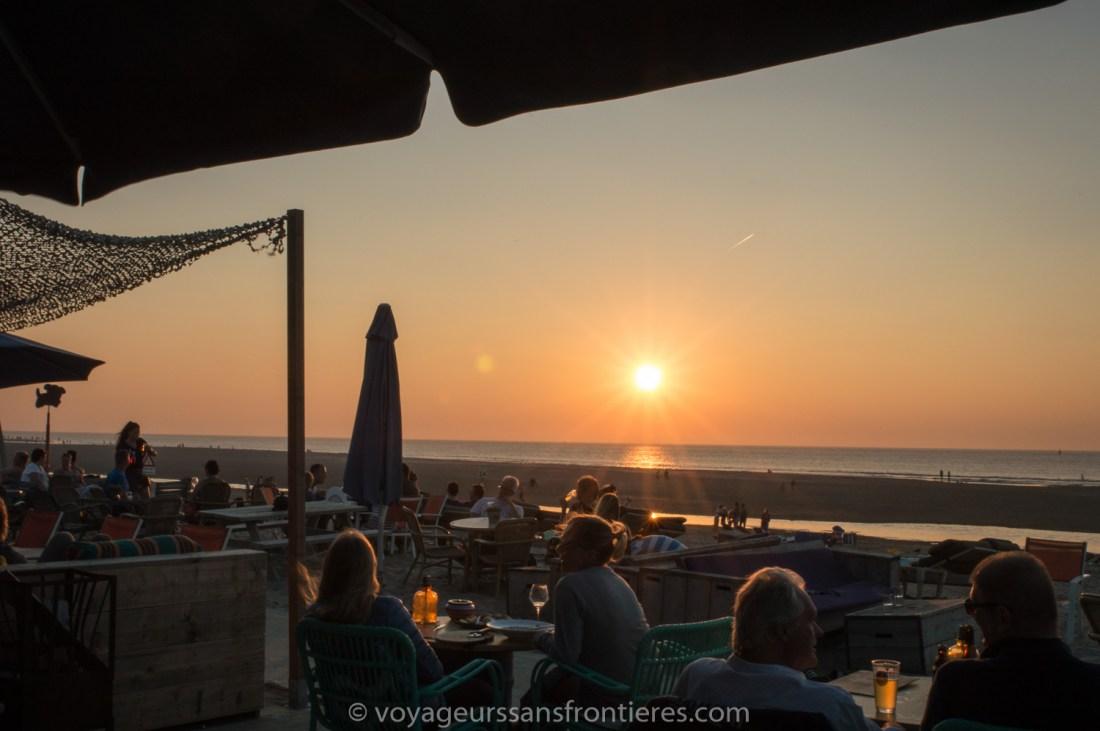 Sunset at Suiderstrand on the Kijkduin beach - The Hague, Netherlands