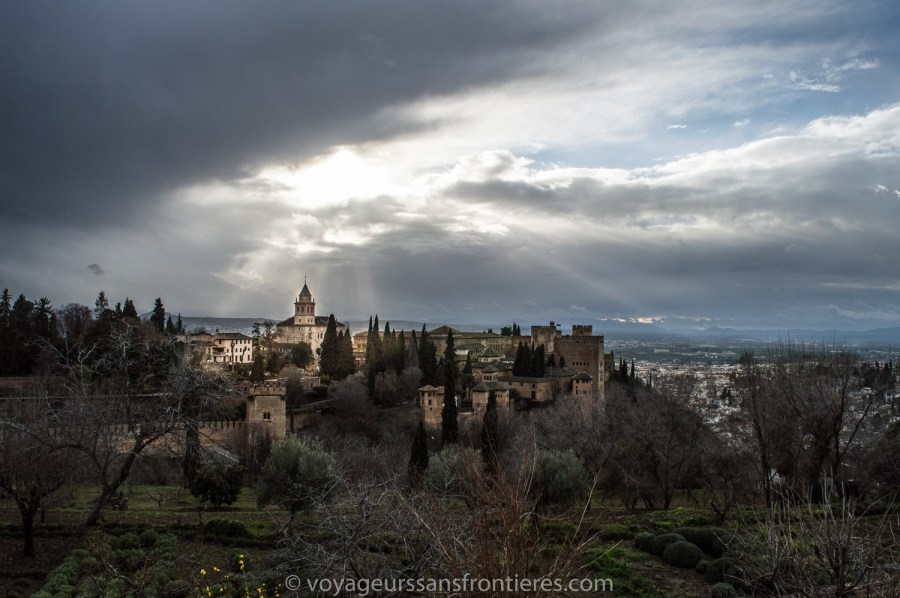 View over Granada from the Alhambra - Spain