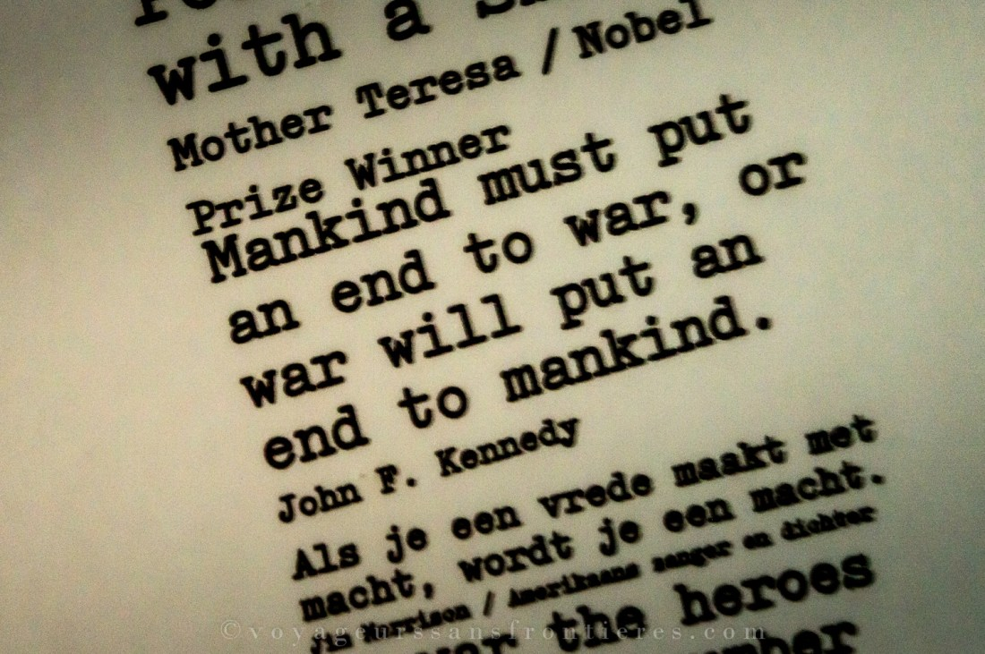 JF Kennedy quote at the Humanity House Museum - The Hague, The Netherlands